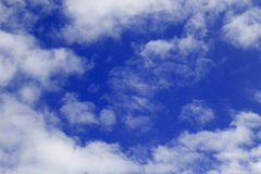 Blue Sky and puffy clouds Stock Image
