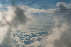 Blue Sky and puffy clouds background Royalty Free Stock Photos
