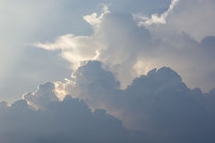 Blue Sky and puffy clouds. A horizontal shot of bright blue sky with puffy white clouds Stock Photography