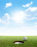 Blue Sky And Putting Green Royalty Free Stock Images