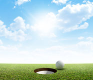 Blue Sky And Putting Green Royalty Free Stock Image