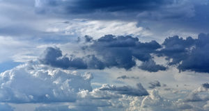 Blue sky with rain clouds as background Stock Photo