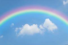 Blue sky with rainbow Royalty Free Stock Photo