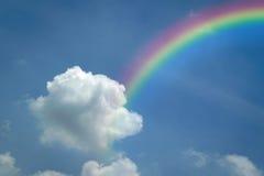 Blue sky with rainbow Stock Photography