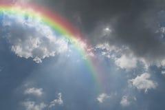 Blue sky with rainbow Stock Photos