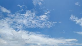 Blue sky after raining. stock image