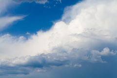 Blue sky with rainy clouds Royalty Free Stock Photo