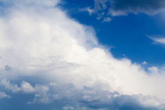 Blue sky with rainy clouds Stock Image