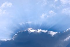Blue Sky with Ray of Light Royalty Free Stock Photos