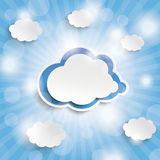 Blue Sky Rays Blue Clouds Royalty Free Stock Images