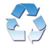 Blue sky recycling symbol Royalty Free Stock Photography