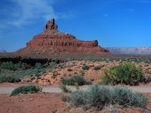 Blue sky and red sandstone formation in Utah Stock Photography