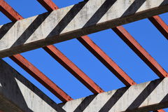 Blue sky. A blue sky and red wood Royalty Free Stock Photos
