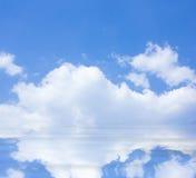 Blue sky reflected Royalty Free Stock Photo