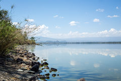 Blue sky reflected in waters of Elmenteita Lake, Kenya Royalty Free Stock Photography