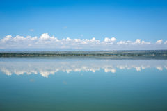 Blue sky reflected in waters of Elmenteita Lake, Kenya Royalty Free Stock Photos