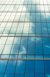 Blue sky reflection on the window Royalty Free Stock Photos
