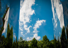 Blue Sky Reflects Nature clouds Royalty Free Stock Photo
