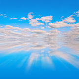 Blue sky reflextion Royalty Free Stock Photos