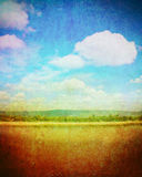 Blue sky in retro style Royalty Free Stock Image
