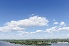 Blue sky and  river Stock Images