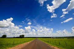 Blue sky and road Royalty Free Stock Image