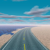 Blue sky and road Royalty Free Stock Images