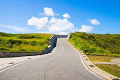 Blue sky on the road Royalty Free Stock Photography