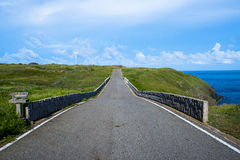 Blue sky on the road Royalty Free Stock Photos