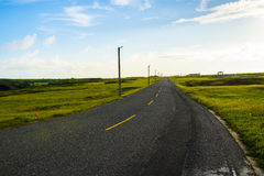 Blue sky on the road Stock Photography