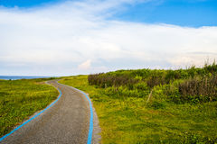 Blue sky on the road Royalty Free Stock Image