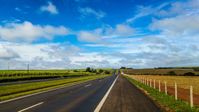 Blue Sky in the road. Stock Photography