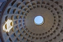 Blue Sky Through Roof of Pantheon Rome Royalty Free Stock Photography