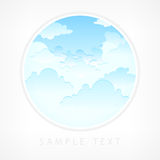 Blue sky in round Royalty Free Stock Image