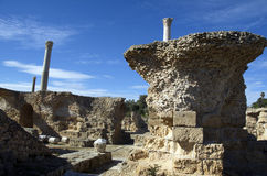Blue sky and ruins in Carthage, Tunisia Stock Photography