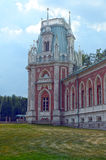 Blue sky Russia The Tsaritsyno  The Grand Palace  The Angular Tower  Heat Stock Photo
