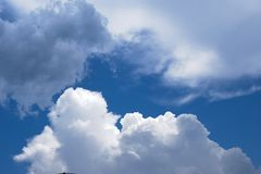 Blue Sky With Scattered Clouds royalty free stock photography