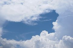 Blue Sky With Scattered Clouds stock photo