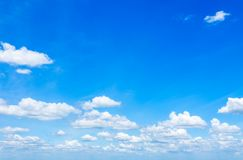 Blue sky with scattered clouds Royalty Free Stock Image