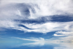 Blue sky and sea. For background Royalty Free Stock Photos
