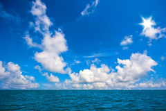 Blue sky and the sea Stock Images