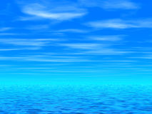 Blue sky & sea Royalty Free Stock Photo