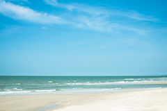 Blue sky with sea and beach Stock Photography