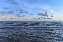 Blue sky and sea. With cloud in sunshine,Thailand Royalty Free Stock Photo