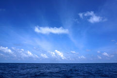 Blue sky on sea Stock Photography