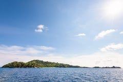 Blue sky and sea at Koh Miang Thailand Royalty Free Stock Photo