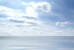 Blue sky and a sea landscape. Summer background Royalty Free Stock Image