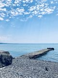 Blue sky and sea. Relax and calm Royalty Free Stock Photography