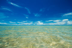 Blue sky and sea Stock Images