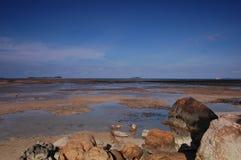 Blue sky sea stock photos